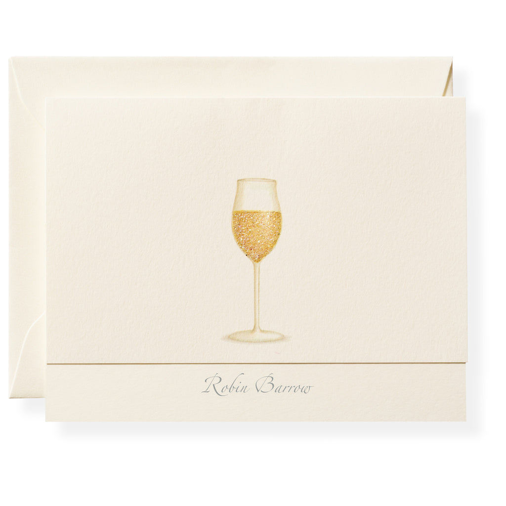 Chardonnay Personalized Note Cards