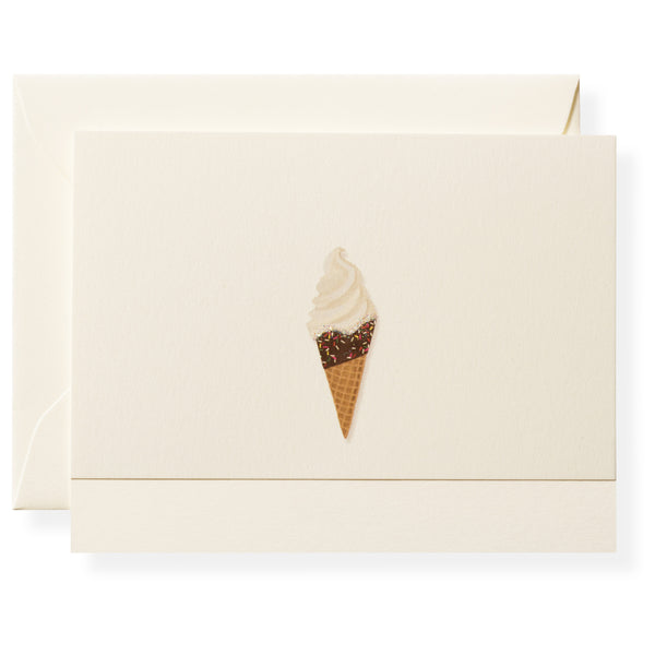 Ice Cream Cone Individual Note Card-1