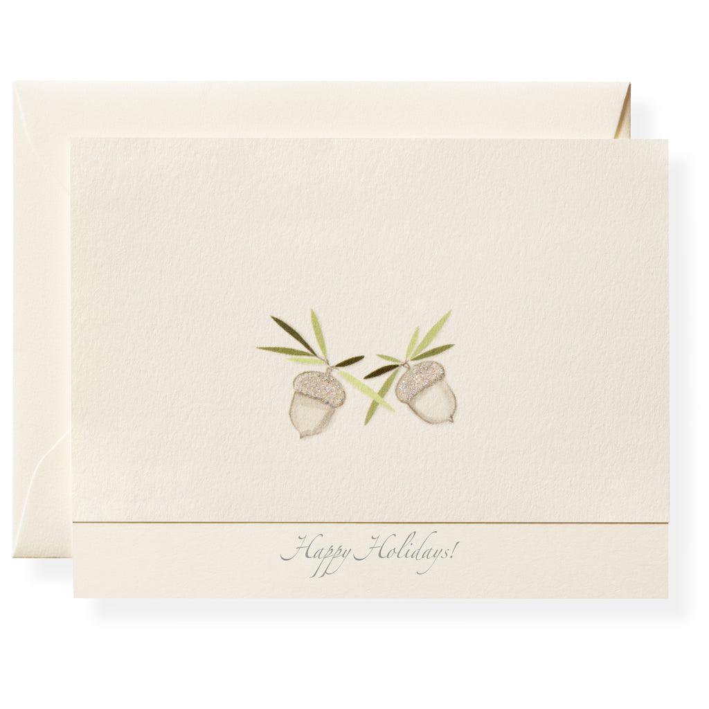 Crystal Acorns Personalized Note Cards