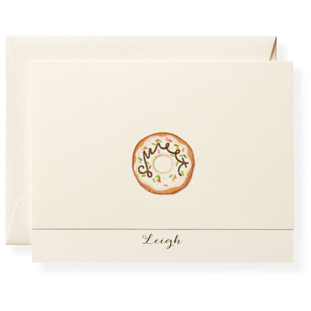 Donut Personalized Note Cards