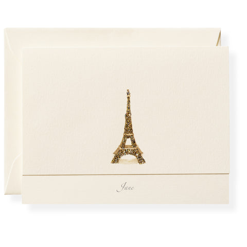 Eiffel Personalized Note Cards