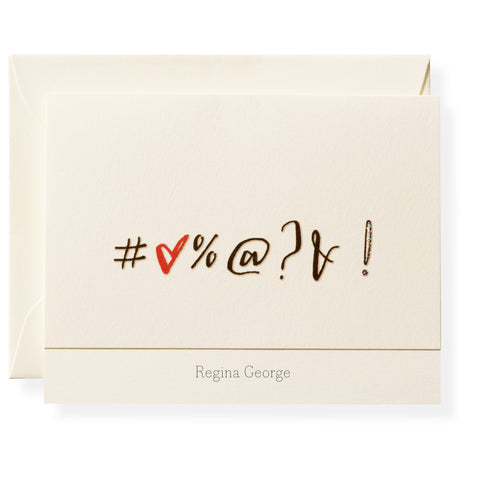 Expletive Personalized Note Cards