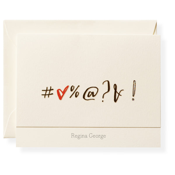 Expletive Personalized Note Cards-1