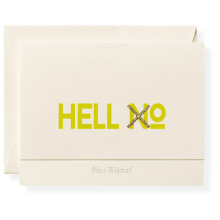 Hell XO Personalized Note Cards