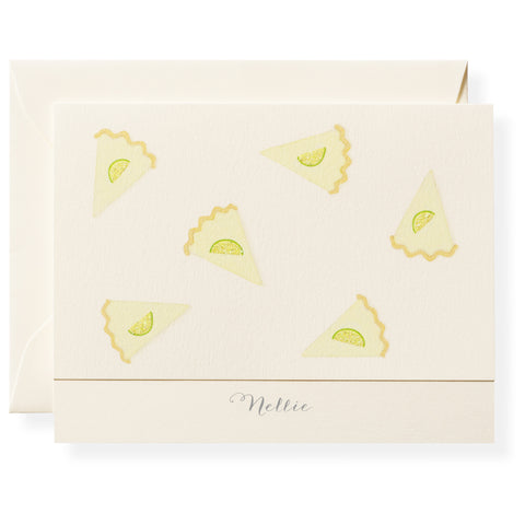 Key Lime Pie Personalized Note Cards