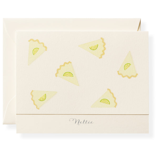 Key Lime Pie Personalized Note Cards-1