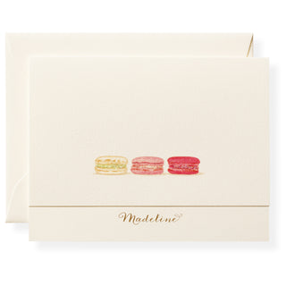 Macarons Personalized Note Cards