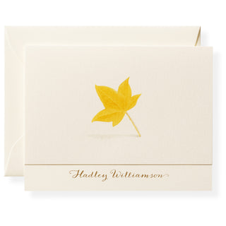 Maple Personalized Note Cards