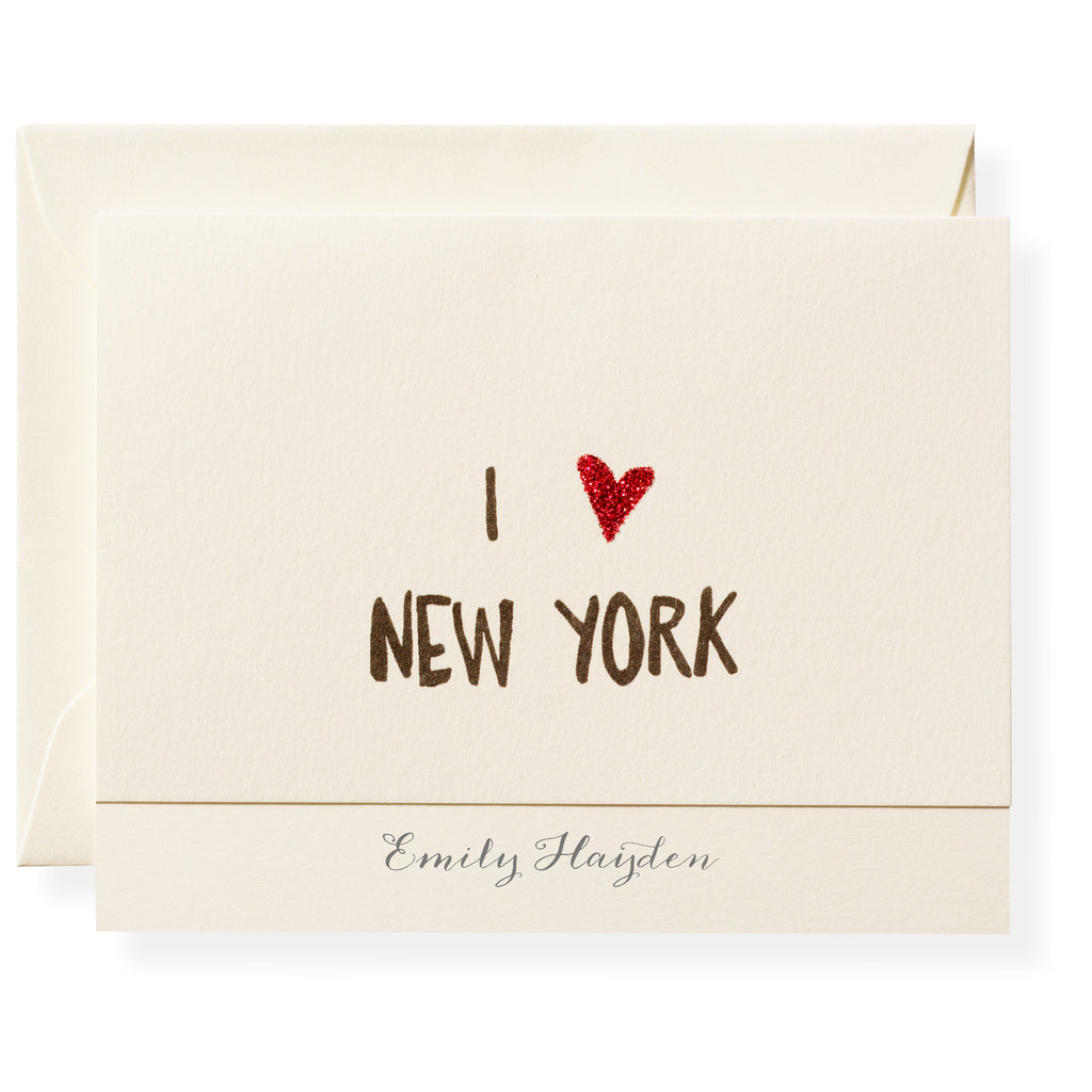 I ❤︎ NY Personalized Note Cards