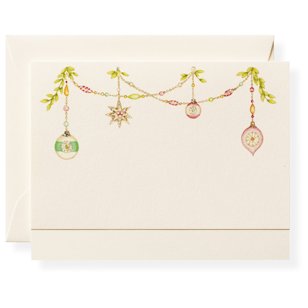 Ornament Swag Individual Note Card