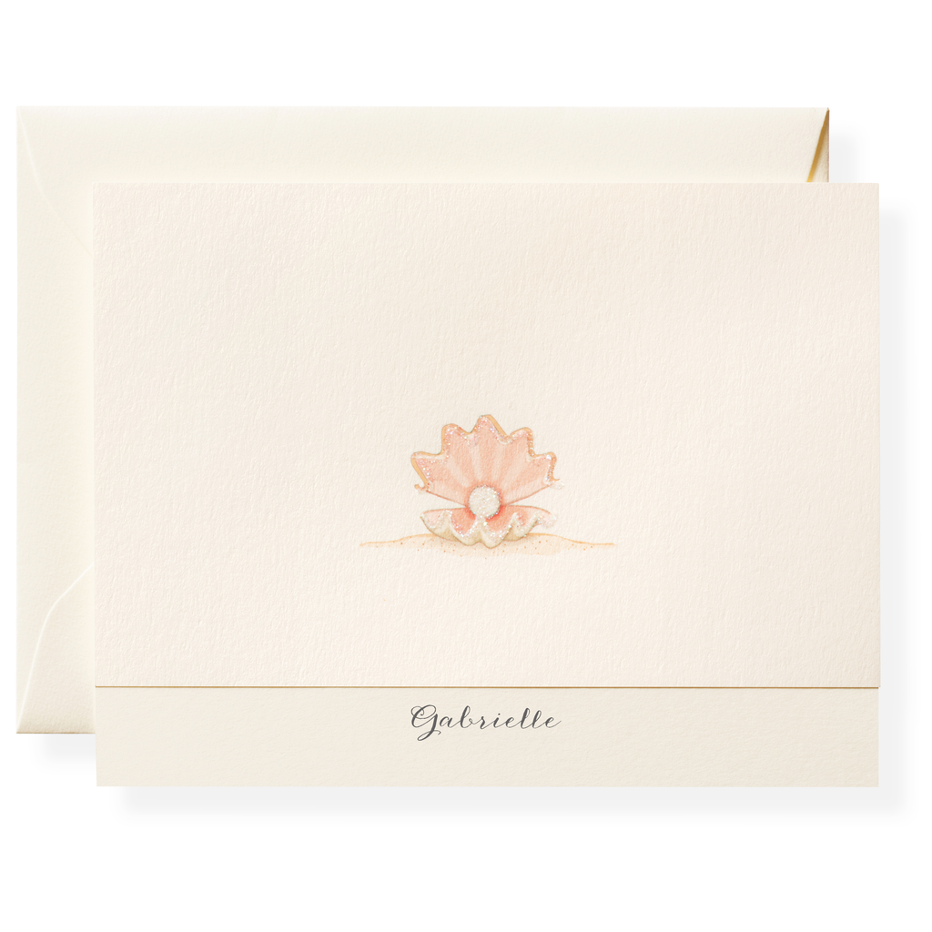 Pearl Personalized Note Cards
