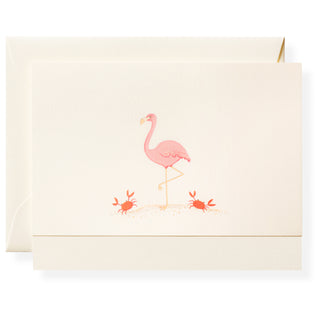 Pink Flamingo Individual Note Card