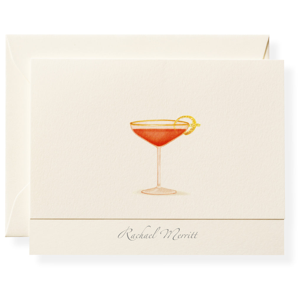 Pink Lady Personalized Note Cards