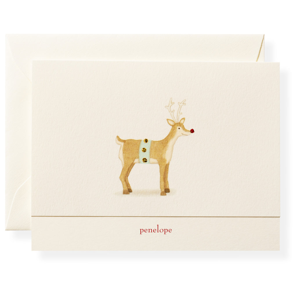 Rudolph Personalized Note Cards
