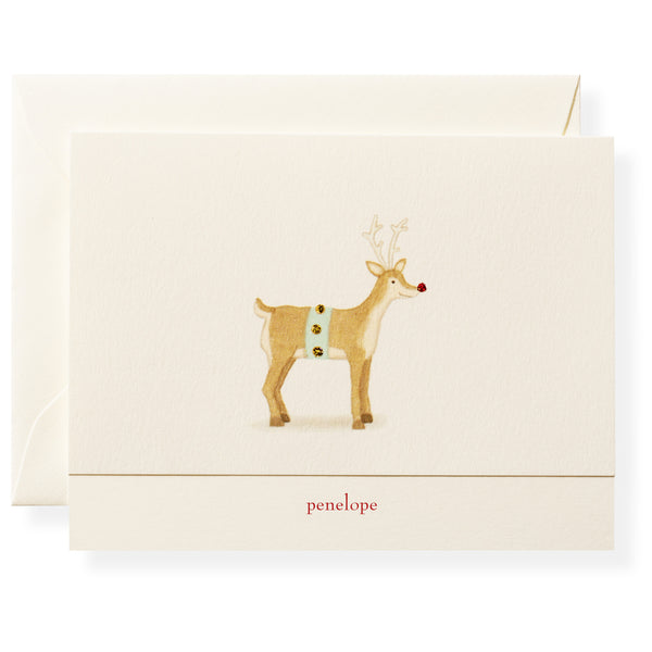 Rudolph Personalized Note Cards-1