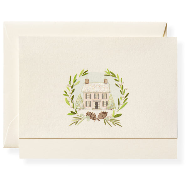 Winter Green Note Card Box-5