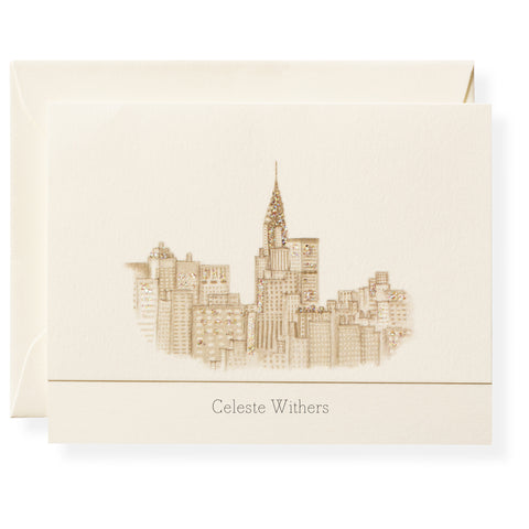 Skyline Personalized Note Cards