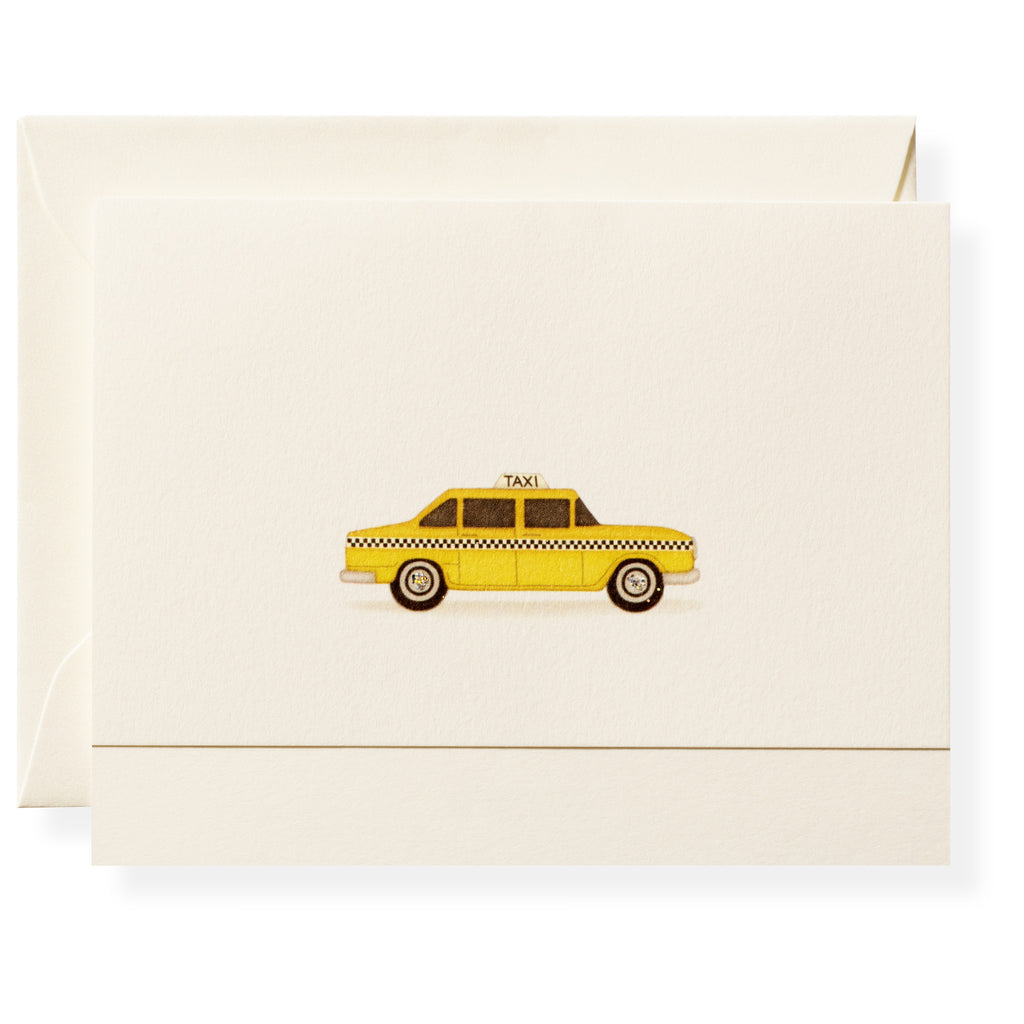 Taxi Individual Note Card