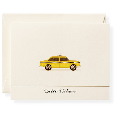 Taxi Personalized Note Cards