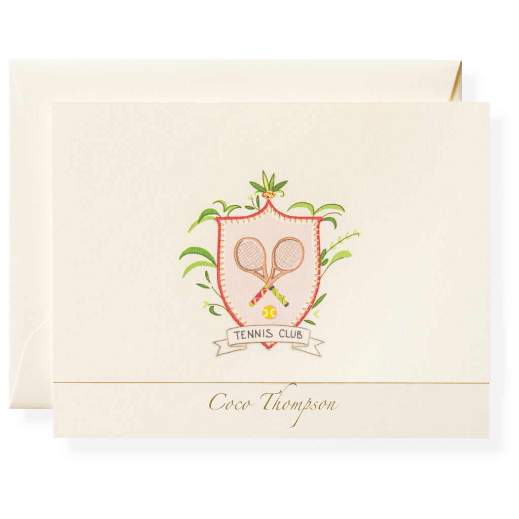 Golf Crest Personalized Note Cards
