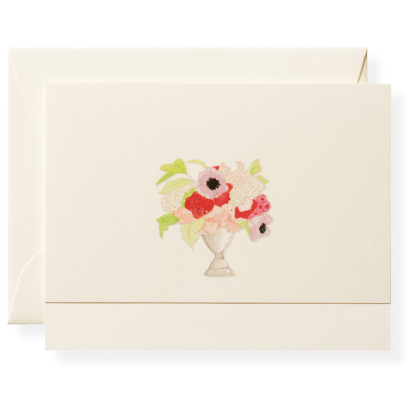Vase of Flowers Individual Note Card-1