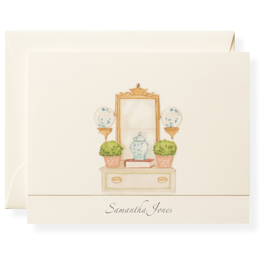 Vignette Personalized Note Cards