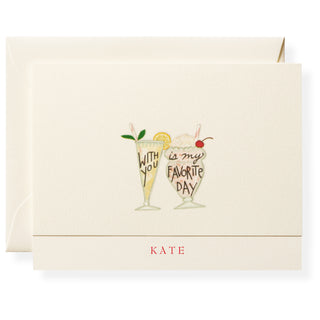 With You Personalized Note Cards