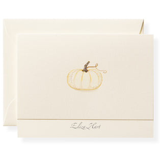 Pumpkin Personalized Note Cards
