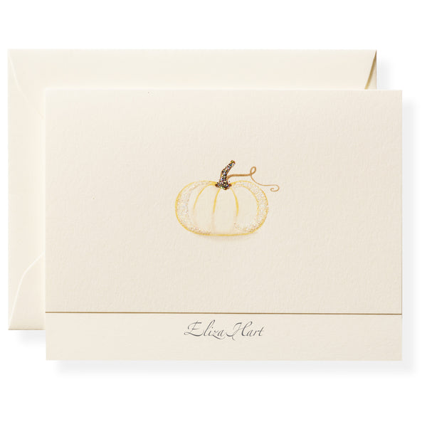 Pumpkin Personalized Note Cards-1