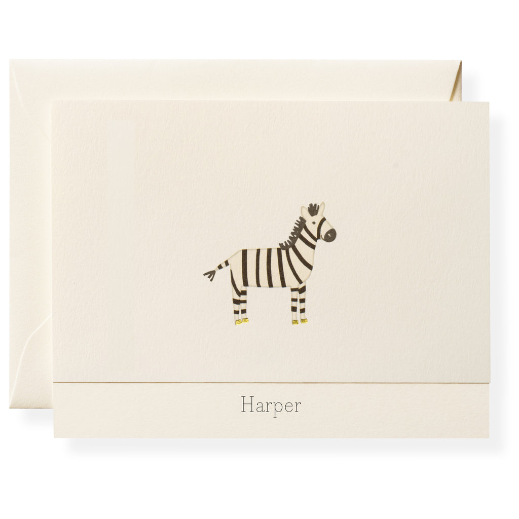 Zander Personalized Note Cards