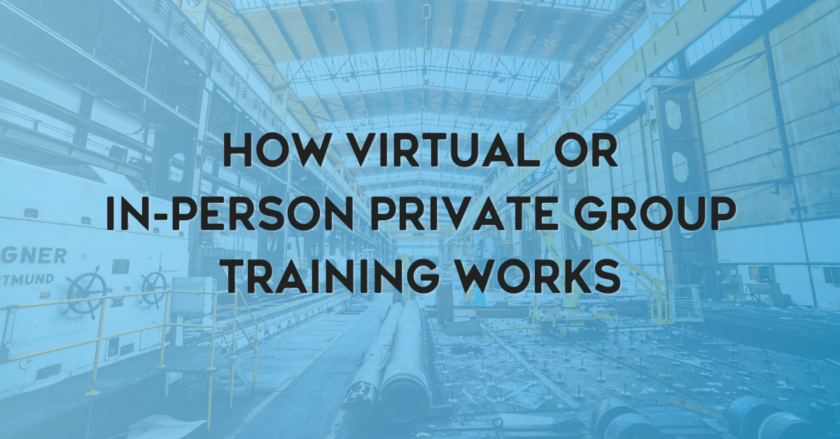 How Virtual or In-Person Private Group Training Works