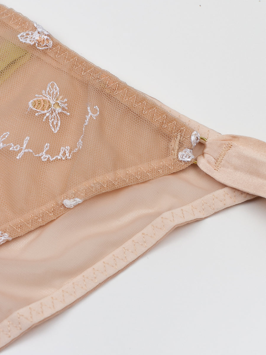 bee-embroidered bikini brief