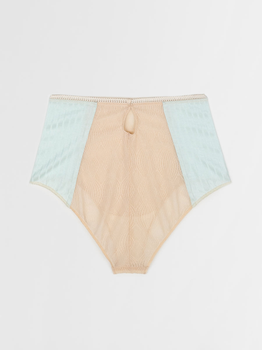 lace and jersey highwaist brief