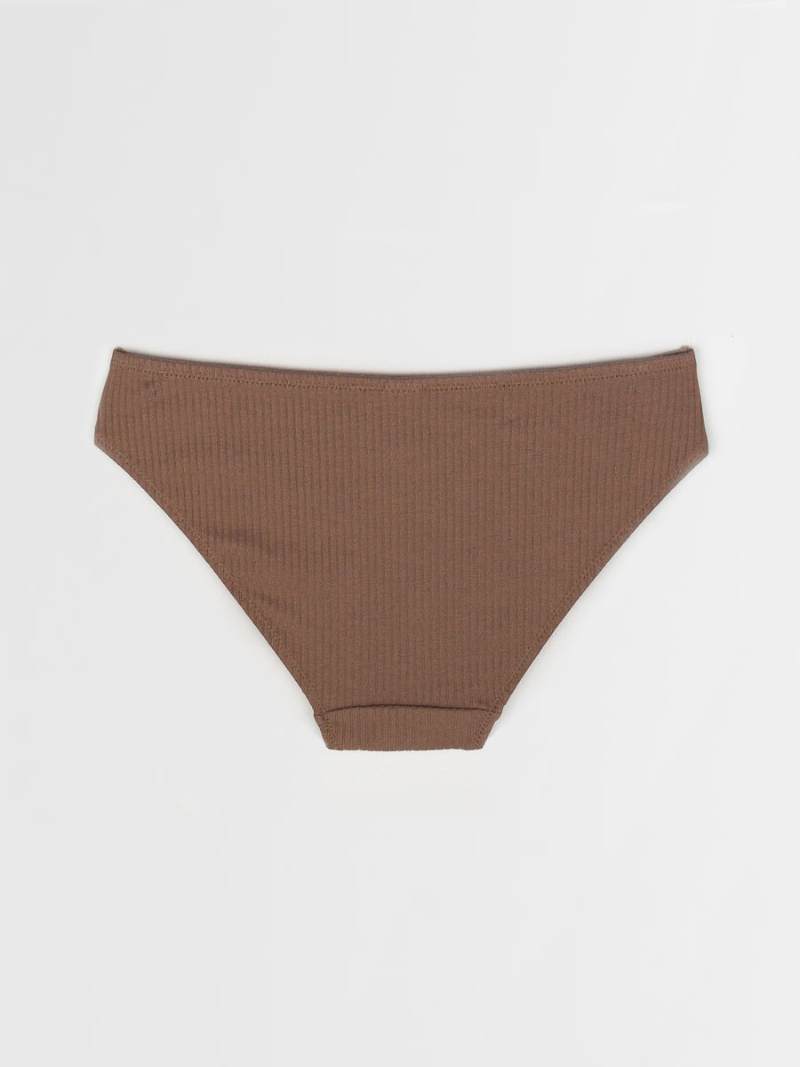 ribbed asymmetric cotton brief