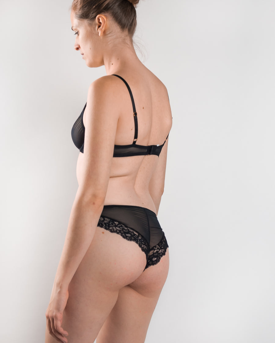 Lola Wants Lingerie stretch tulle and lace cheeky hipster