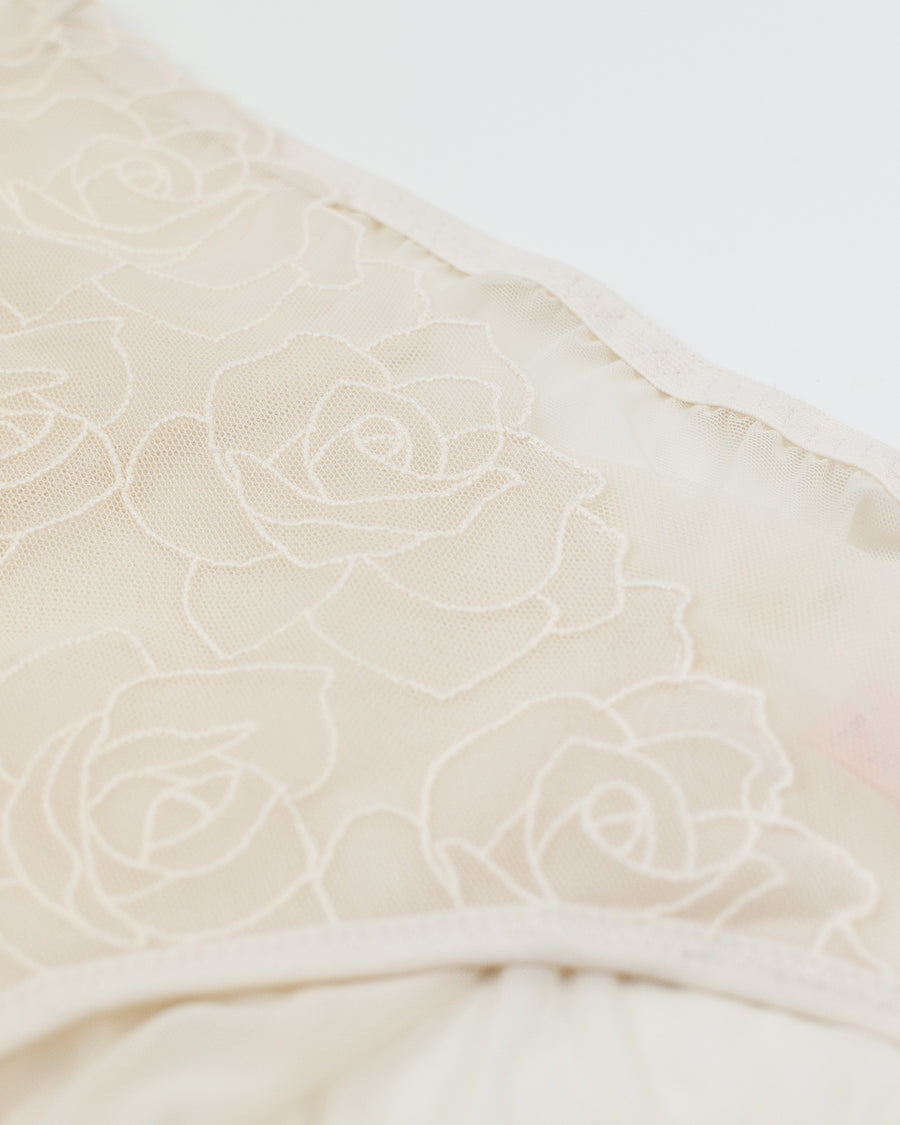 floral embroidered assymetric brief