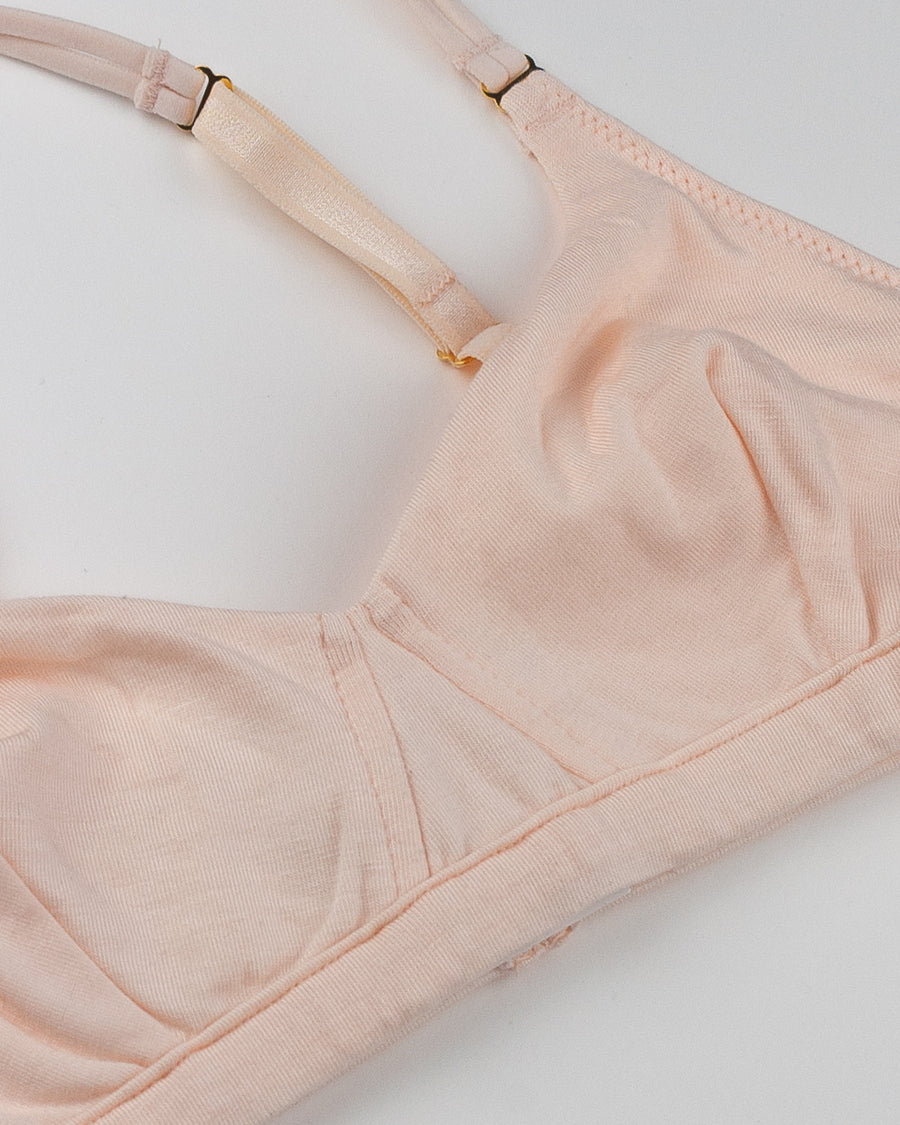 Woron blush modal cross back triangle bra
