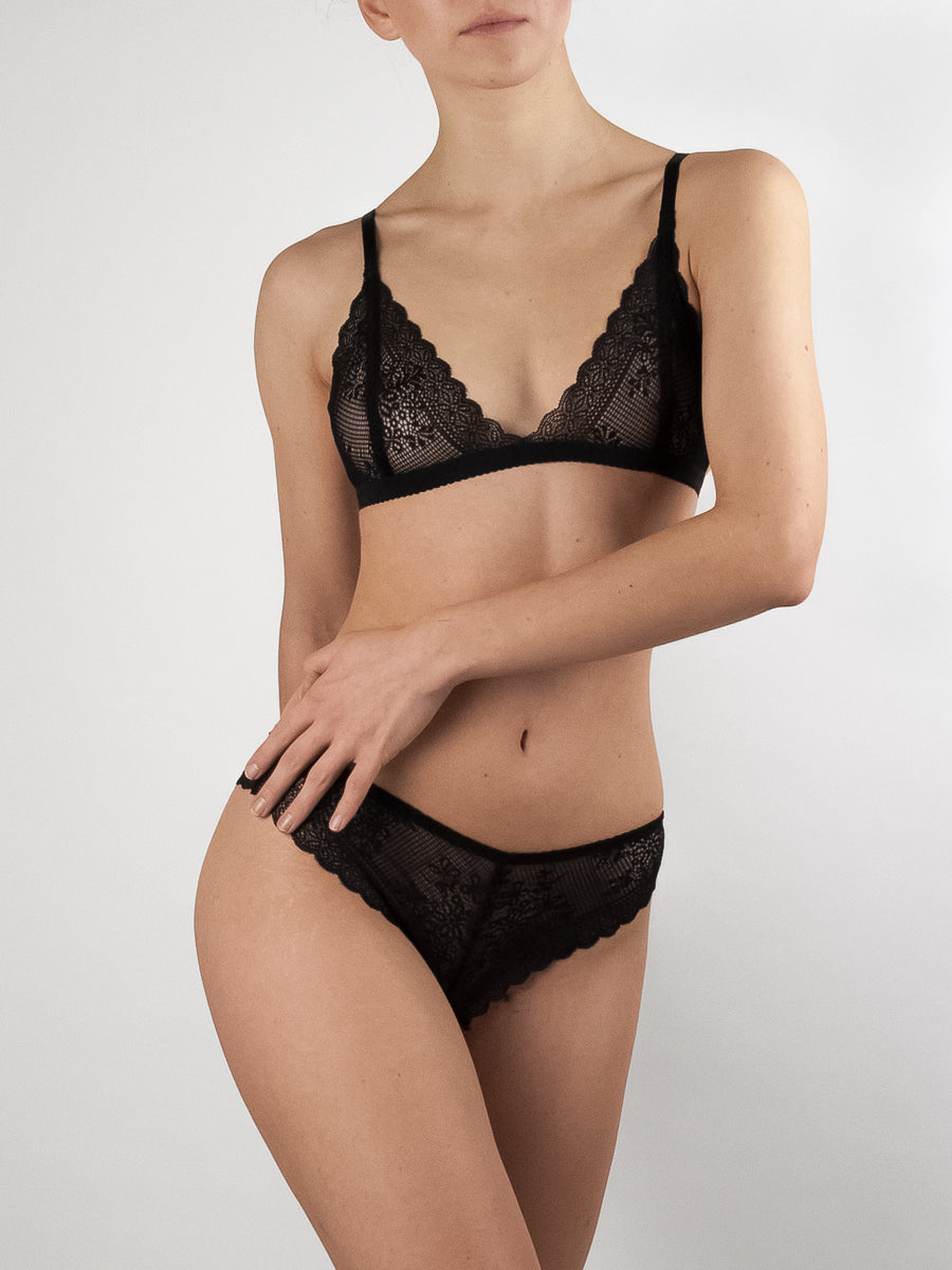 Fluxe Designs stretch lace cheeky hipster black