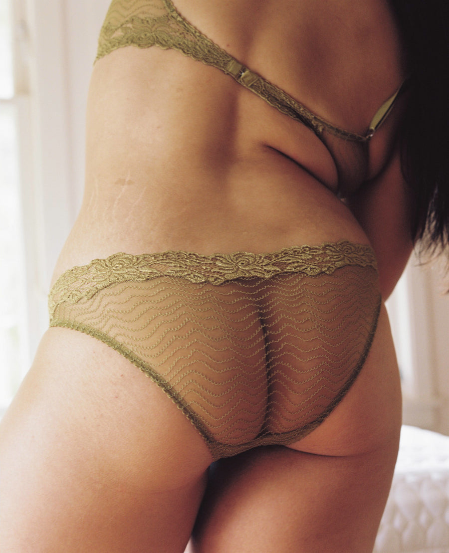 lace trimmed brief
