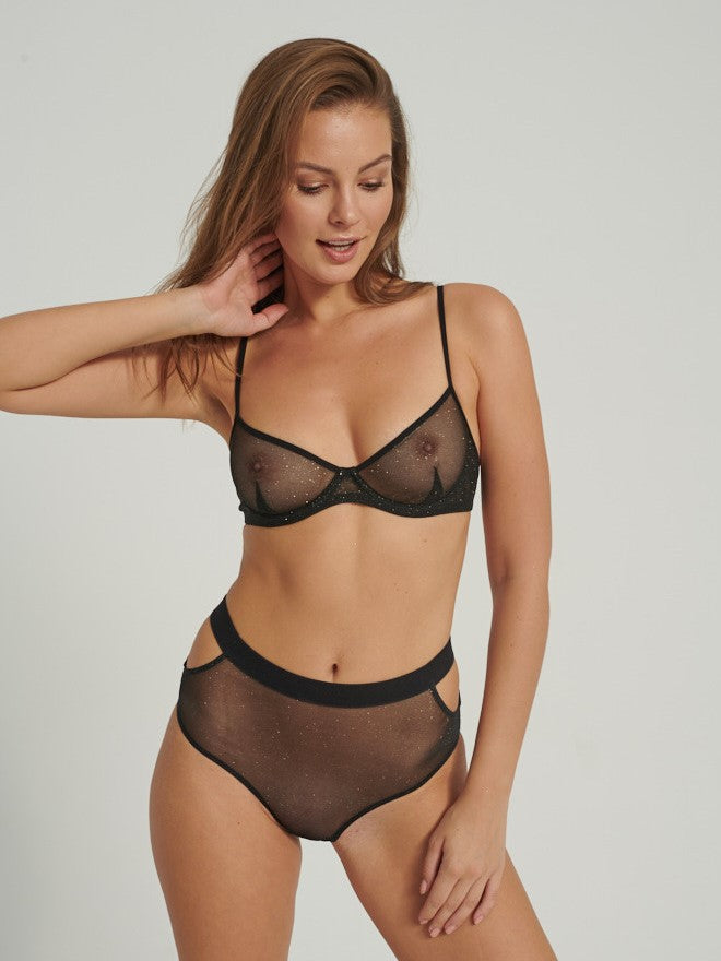 glitter demi underwire bra Undress Code The Lingerist