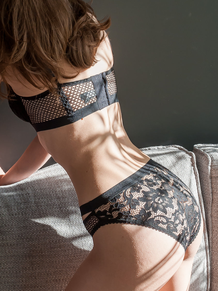 floral lace full cup bra