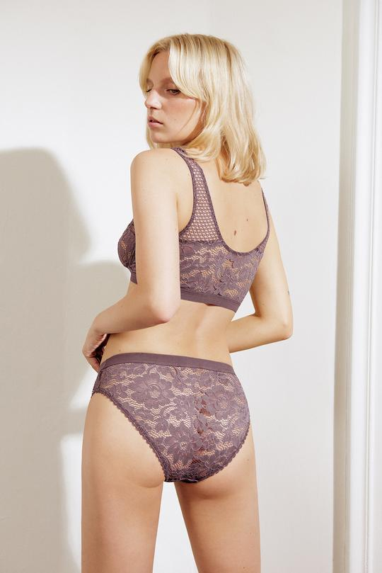floral lace cutout brief