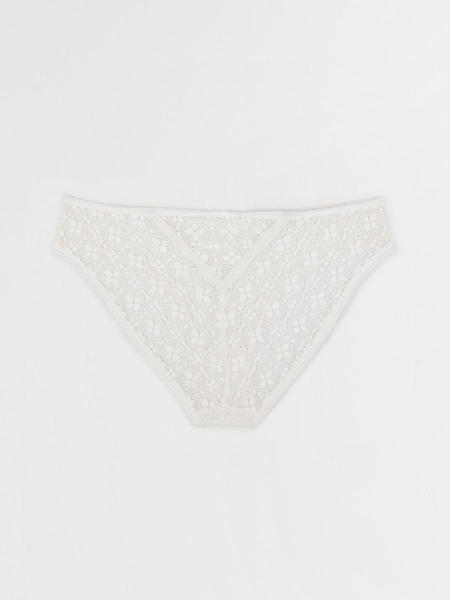 guipure lace brief