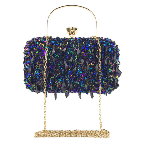 Fashion beaded hang diamond evening bag