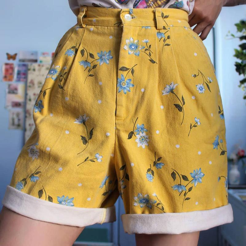 Women's Casual Printed Colour Shorts
