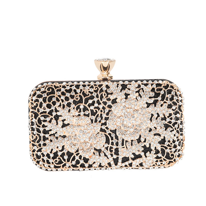 Fashion ladies inlaiding diamond clutch banquet bag
