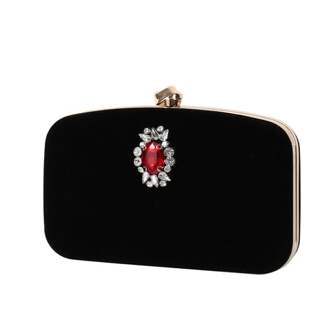 Retro Elegant Diamond Lock Buckle Dinner Bag