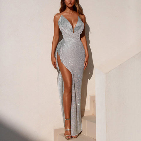 Sexy Sling Slit Evening Dress