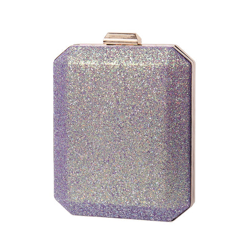 Fashion Women Colorful Glitter Dinner Bag