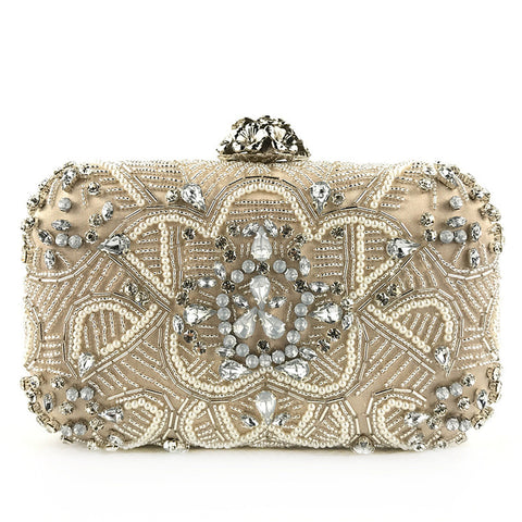 Women's fashion beaded exquisite clutch